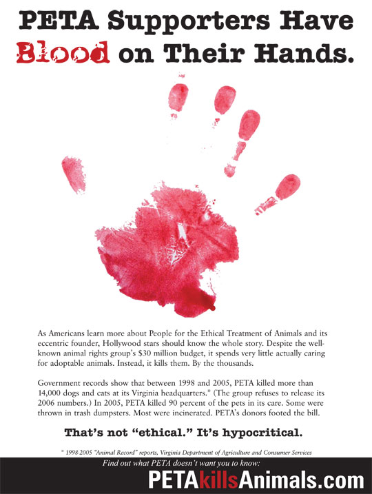 Blood on Their Hands Ad - Print - December 2011